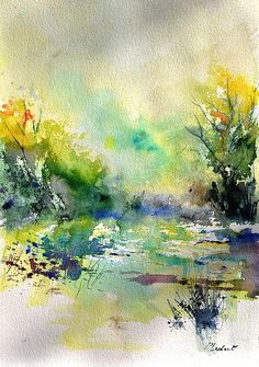 Watercolor 45319041 by Pol Ledent - Watercolor 45319041 Painting - Watercolor 45319041 Fine Art Prints and Posters for Sale
