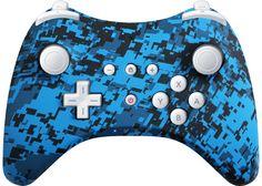 Custom Wii U Controller Blue Urban by EvilControllers on Etsy, $89.99 #CustomController #WiiU #ProController #DigitalUrban #Blue