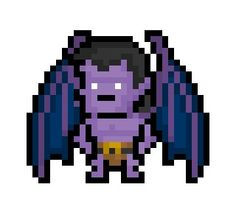 """Goliath, stoic leader of the Manhattan Clan and main hero of Disney's frankly awesome cartoon series """"Gargoyles"""", now derezzed to a tiny 31 x 26 pixel resolution.  Jalapeña !"""