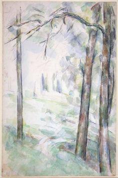 Paul Cezanne: Les Bois (c. 1890) watercolor, graphite on paper
