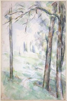 Paul Cezanne: Les Bois (c. 1890) watercolor, graphite on paper