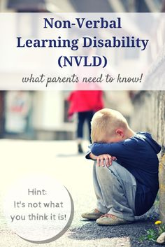 All parents who have a child who is struggling in school should read about NVLD or Non Verbal Learning Disabilities. It is relatively new as a diagnosis, but very isolating for kids. Nonverbal Learning Disability, Learning Disabilities, Multiple Disabilities, Developmental Disabilities, Special Needs Resources, Special Needs Kids, Dyscalculia, Adhd And Autism, Autism Help