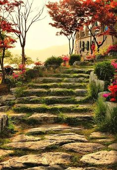 Astonishing Photos of Marvelous Places Around the World (Part Stone Pathway, Bomunho Lake, South Korea - yep, these have been added to my travel bucket list! Beautiful World, Beautiful Gardens, Beautiful Places, Beautiful Beautiful, Places Around The World, Around The Worlds, Garden Stairs, Stairway To Heaven, Jolie Photo