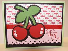 Cherry Card - Hello Kitty Greeting