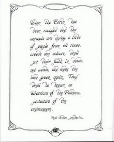 Hopi Prophecy? I've also seen it presented as Cree prophesy, but powerful regardless of origin.