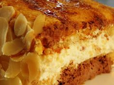 TARTA SAN MARCOS Spanish Tapas, Spanish Food, Puerto Rican Recipes, Always Hungry, Churros, Mediterranean Recipes, Frostings, Flan, No Bake Cake