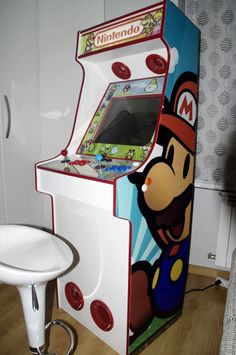 Project MAME - Other Mame cabinets based on the Project MAME design. A whole cabinet centered around Paper Mario? Retro Arcade Games, Mini Arcade, Nintendo 64, Mame Cabinet, Diy Arcade Cabinet, Bartop Arcade, Arcade Room, Man Cave Home Bar, Retro Video Games