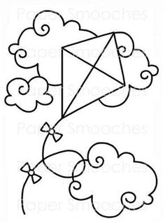 The Latest Trend in Embroidery – Embroidery on Paper - Embroidery Patterns Spring Coloring Pages, Colouring Pages, Coloring Pages For Kids, Coloring Books, Felt Patterns, Applique Patterns, Paper Embroidery, Embroidery Designs, Drawing Lessons For Kids