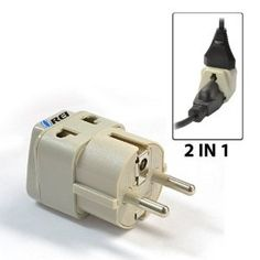 Amazon.com: OREI Grounded Universal 2 in 1 Schuko Plug Adapter Type E/F for Germany, France, Europe, Russia & more - High Quality - CE Certified - RoHS Compliant WP-EF-GN: Electronics