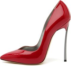High Heels ~ Classic Look ~ Casadei Red Patent Stiletto Heel Pumps Stilettos, Pumps Heels, Red Stiletto Heels, Red Pumps, Red Heels, Pretty Shoes, Beautiful Shoes, Heeled Boots, Shoe Boots