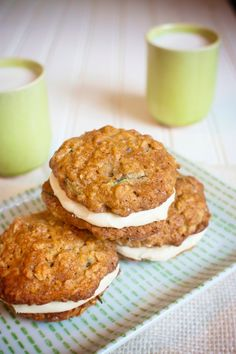 Zucchini Sandwich Cookies with Cream Cheese Frosting: Dairy and Egg-free