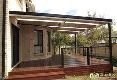 Colorbond Pergola and merbau hardwood timber deck