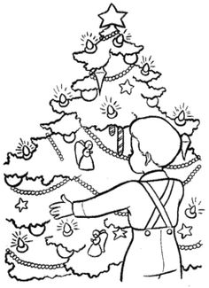 Christmas Eve In Germany Coloring Page