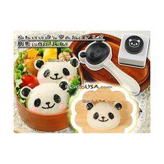 Panda Bento Rice Mold and Seaweed Nori Puncher Set