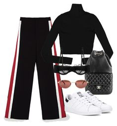 Untitled #3970 by camilae97 on Polyvore featuring polyvore fashion style Morgan Lane adidas Originals Chanel clothing