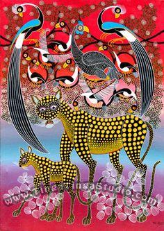 Noel Kapanda - one of the best Tinga Tinga painters.