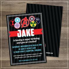 Avengers Printable Birthday Party Invitation | $12.00 | Amanda Franks Design
