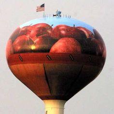 Basket of Apples Water Tower, East side of I-81 just south of exit 273 (Mt. Jackson), Shenanadoah Co., VA.