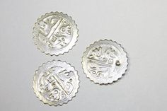 Silver Plated Copper Charm Beads 2 Pieces 20 mm by simplysurina, $1.50