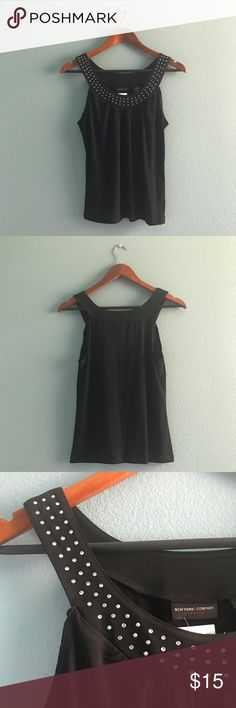 New York & Company Black Tank with Rhinestones NWT New York & Company Black Tank with Rhinestones NWT Size:M New York & Company Tops Tank Tops