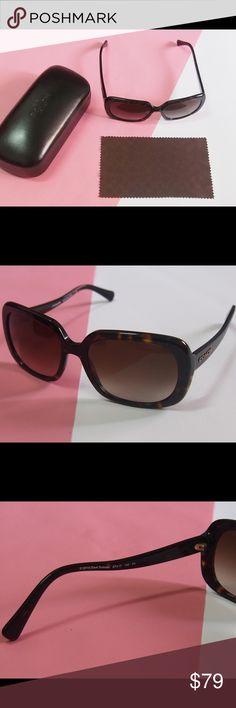 Coach dark tortoise sunglasses NWT Coach brown dark tortoise sunglasses Brand new and no scratches  Come with the original cases Coach Accessories Sunglasses