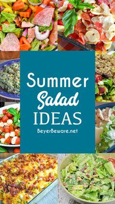 Best Salad Recipes, Summer Salad Recipes, Salad Recipes For Dinner, Dinner Salads, Healthy Snacks, Healthy Eating, Healthy Recipes, Clean Eating, Easy Summer Dinners