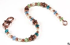 Jewelry Making Idea: Copper Harmony Bracelet (eebeads.com)