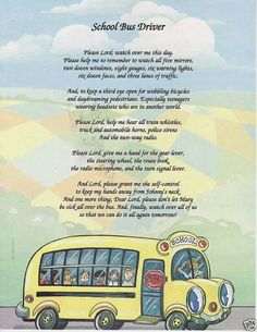 School Bus Driver Poem Prayer Personalized Name Print for sale online School Bus Safety, School Bus Driver, Magic School Bus, I School, First Day Of School, School Buses, School Stuff, Bus Driver Appreciation, Teacher Appreciation