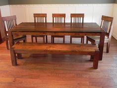 Farm Table Dining Set by Against the Grain Studio via Flickr