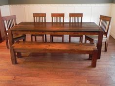 salvaged wood kitchen table from against the grain in nopo