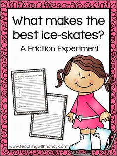 FREE sheets for you to use to conduct this friction experiment using the scientific method.
