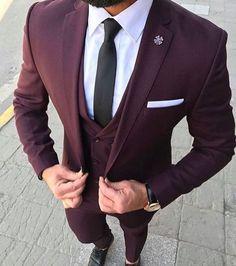 burgundy suit men prom - burgundy suit men - burgundy suit - burgundy suit wedding - burgundy suit men wedding - burgundy suit men prom - burgundy suits for men - burgundy suit men outfits - burgundy suit wedding groom attire Mens Fashion Suits, Mens Suits, Suit Men, Fashion Hats, Fashion Clothes, Best Suits For Men, Wedding Men, Wedding Suits, Wedding Groom