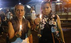 WestCoast for Bernie @jjubbu   Candle lit vigil for the death of democracy outside #DemConvention #demwalkout