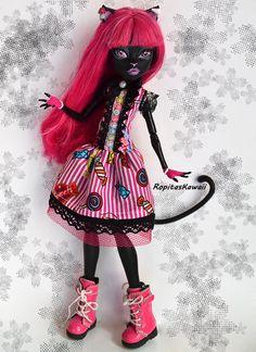 Vestido de dulces hecho a mano para muñeca monster high. de RopitasKawaii en Etsy