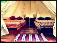 2 Double Bed glamping tent at Palmar Tent Lodge in Bocas del Toro, Panama. Starting at $60/night!