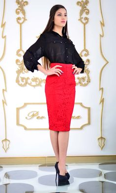 Ready for the office Lace Skirt, Skirts, How To Wear, Women, Fashion, Moda, Fashion Styles, Skirt