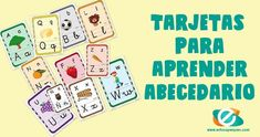 Tarjetas para aprender el abecedario y repasar las letras Jpg, Alphabet, Molde, Learning Letters, Writing, Speech Language Therapy
