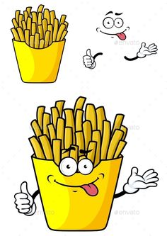 [ Smiling Cartoon French Fries With Hands And Face In Paper Cap Flat Sports Mascots Medicine Food Wedding Graphic Design Trends, Graphic Design Tutorials, Mcdonalds Fries, Food Kiosk, Food Cartoon, Food Trailer, Logo Restaurant, Decorating Coffee Tables, Sketch Design