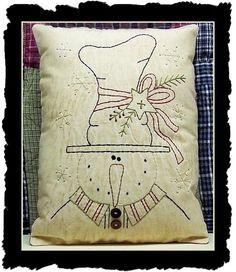 craft, snowman pillow, pattern embroideri, embroidery patterns christmas, stitch snowman, embroideri pillow, christma stitcheri, pillows, card embroidery patterns