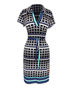 This Black & White Dot Tie-Wait Dress by Bonmode is perfect! #zulilyfinds