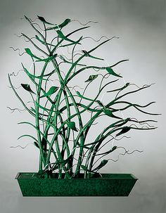 Swaying Grasses by Charles McBride White (Metal Fountain) | Artful Home