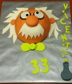 Tarta decorada cientifico loco / Crazy scientist cake