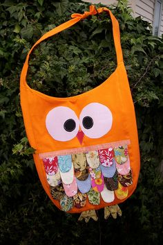 owl bag: owls of a feather stick together! (bulletin board idea!)