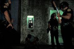 Alex Webb USA. Miami, FL. 1989. Liberty City disturbances.