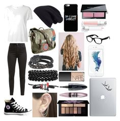 """""""Urban girl"""" by i-live-in-the-valley-49 on Polyvore featuring R13, Halogen, Levi's, Converse, Marvel, Leatherock, Bling Jewelry, Otis Jaxon, NARS Cosmetics and Bobbi Brown Cosmetics"""