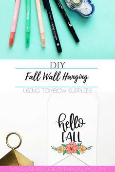 DIY Fall Wall Hanging Banner
