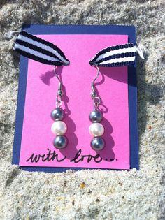 Glass Pearl Earrings. $5.00, via Etsy.