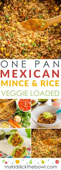 Kids Meals One-Pan Mexican Mince and Rice a One Pot Family Meal an easy veggie loaded recipe - One-Pan Mexican Mince and Rice a One Pot Family Meal an easy veggie loaded recipe Kids Cooking Recipes, Vegetarian Recipes Easy, Baby Food Recipes, Meat Recipes, Veggie Mince Recipes, Recipes With Mince, Meals With Mince, Budget Recipes, Cooking Games