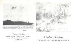 Carlos Arribas expone en la Casa de Cultura de Cuenca Noviembre 1981 #CasaCulturaCuenca #CarlosArribas