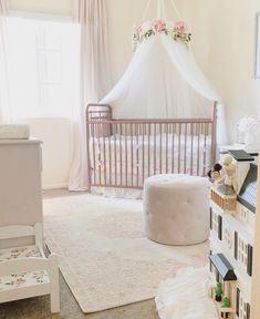 Aurora Canopy - Serene Floral Crib Canopy // Bed Crown // Nursery Decor // Teepee // Baby Shower Decoration or Gift Chic Nursery, Nursery Room, Floral Nursery, Nursery Ideas, Girl Nursery, French Nursery Decor, Pink Gold Nursery, Bedroom Ideas, Pink Crib